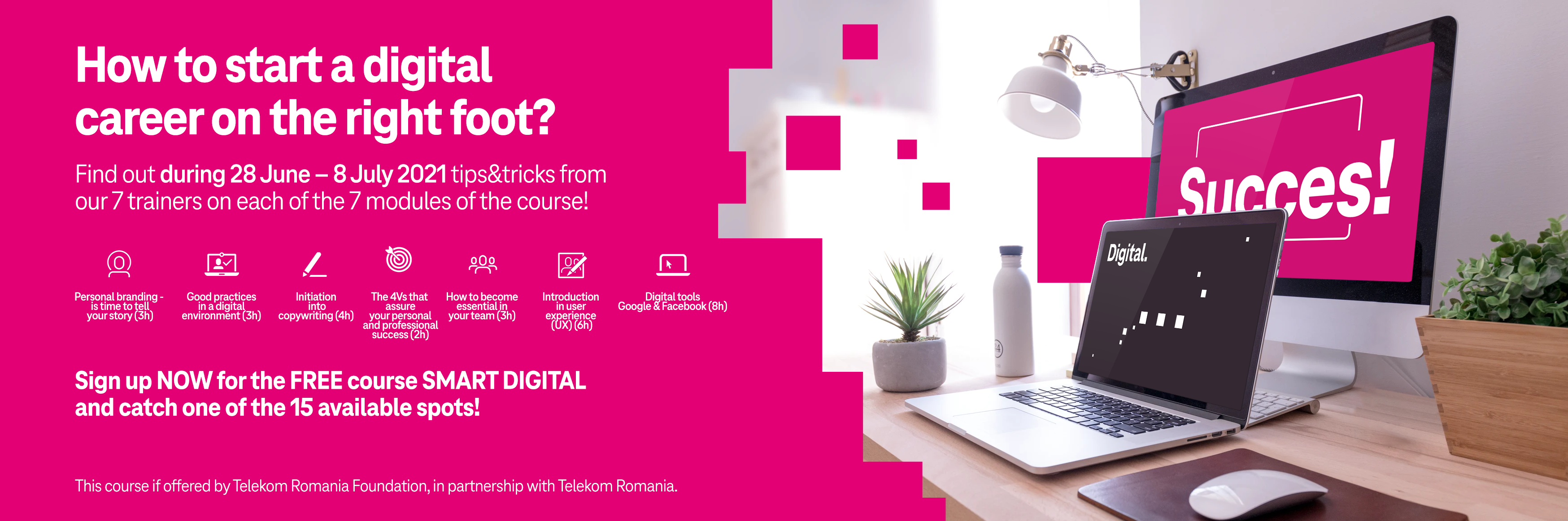 Free course for young people who want a career in the digital environment