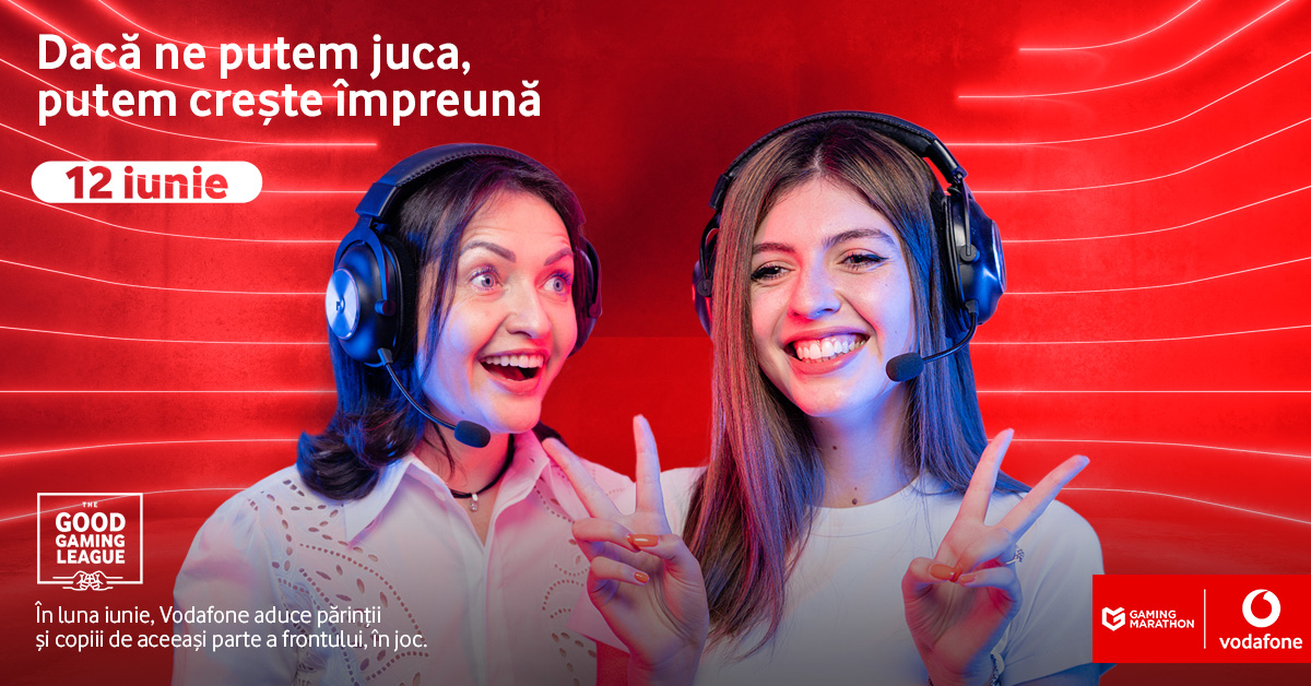 Vodafone Romania brings parents and children to the same side of the game