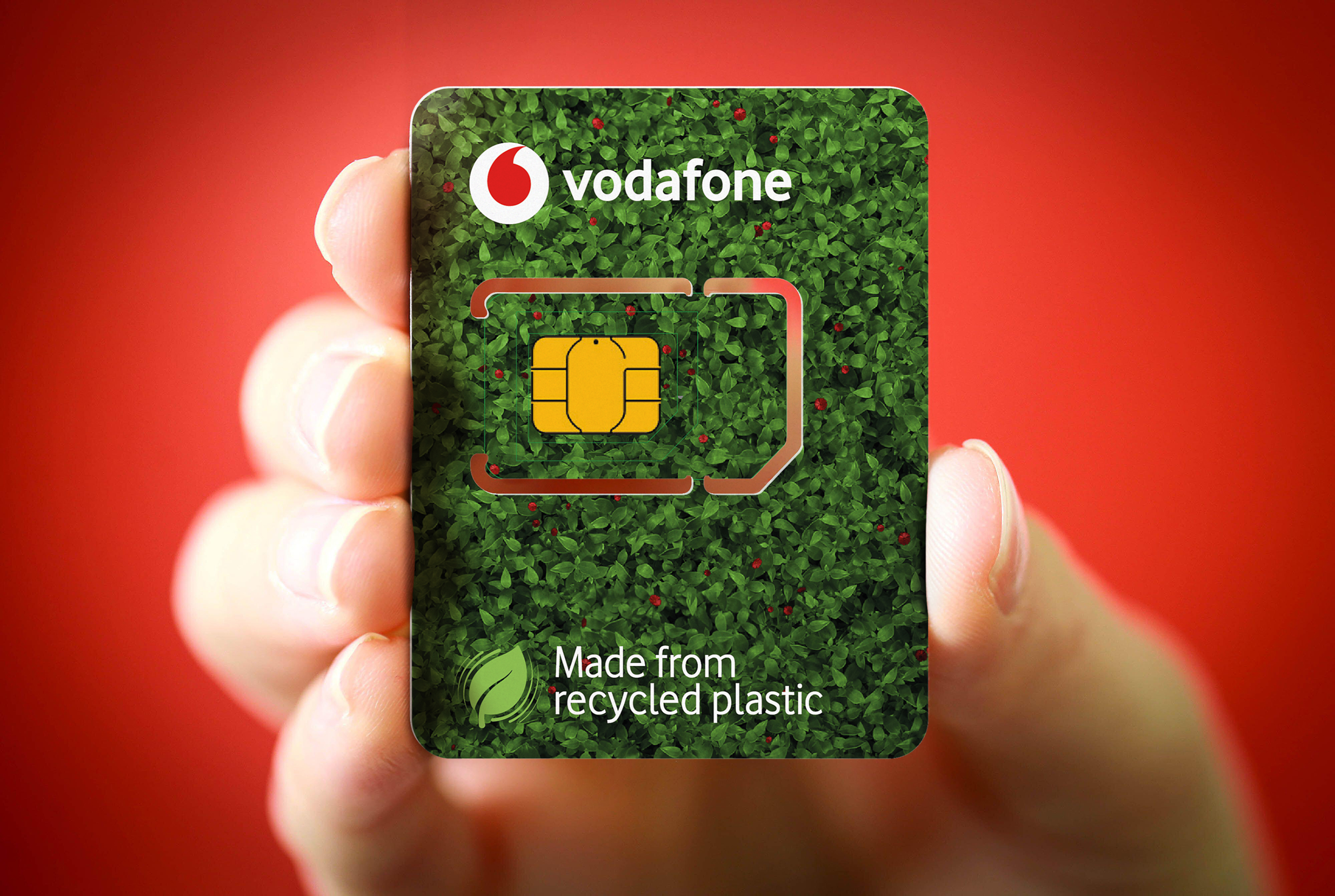 Vodafone launches ECO-SIM cards made from recycled plastic